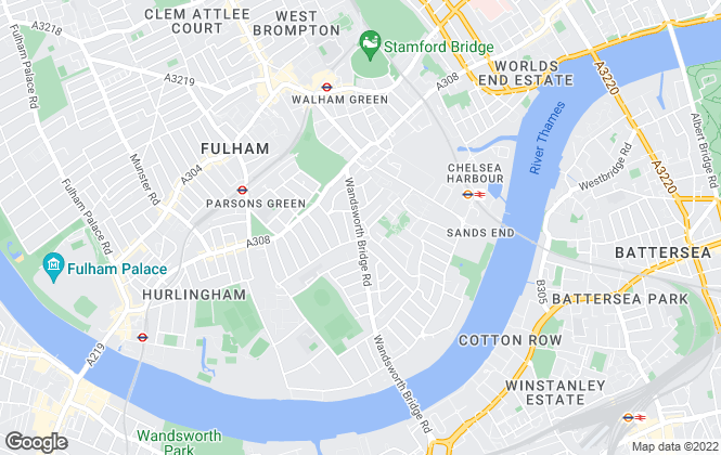 Map for Haus Properties, Fulham