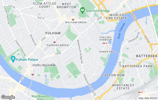 Map for Aspire, Fulham South