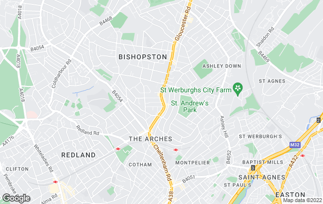 Map for Central Estate Agents, Bishopston