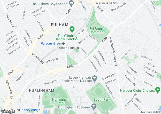 Map for Molesford Road, Fulham, London SW6 4BX