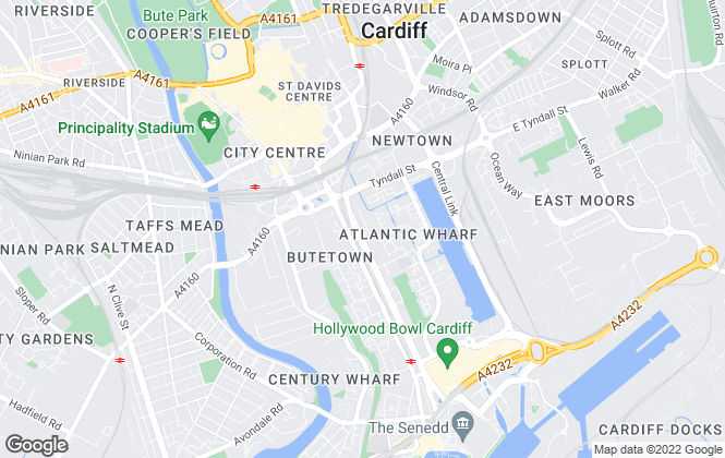 Map for Property Fee Savers, Cardiff