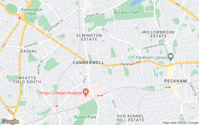 Map for YOUR MOVE Pereira Lettings , Camberwell Lettings