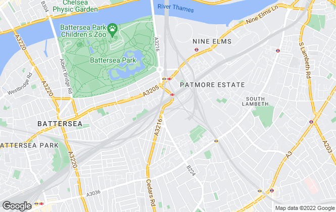 Map for Battersea & Nine Elms Estates, London