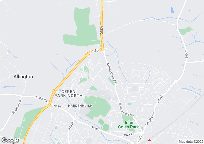 Map for Hardenhuish Lane, Chippenham, Wiltshire