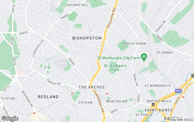 Map for Andrews Lettings and Management, Bishopston