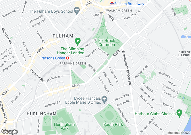Map for Crondace Road, Fulham, London, SW6 4BS
