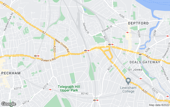 Map for Peter James Estate Agents, New Cross