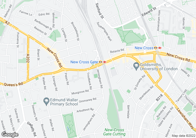 Map for New Cross Road, New Cross, SE14