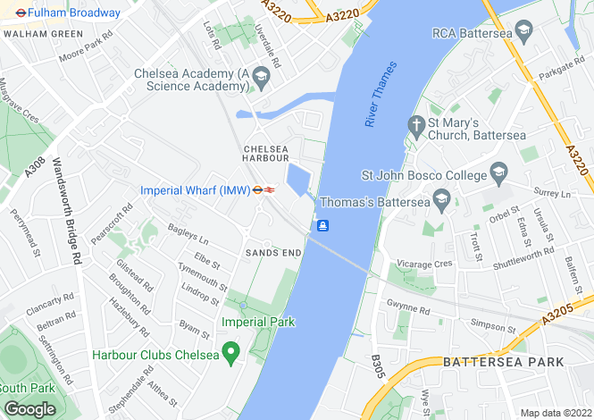 Map for The Belvedere, Chelsea Harbour, London, SW10