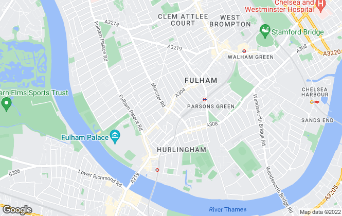 Map for Portico, Fulham