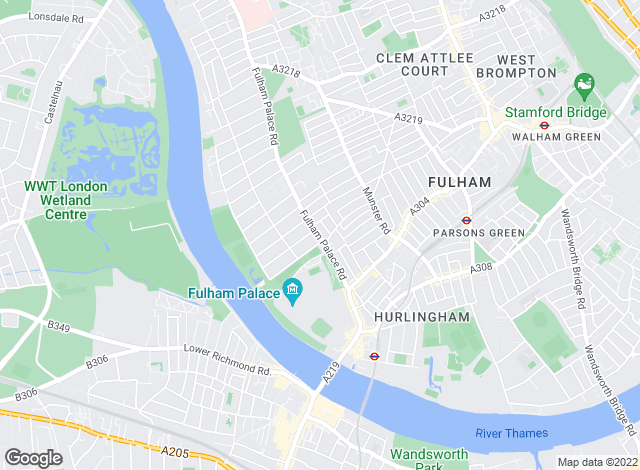 Map for Sullivan Thomas, Fulham