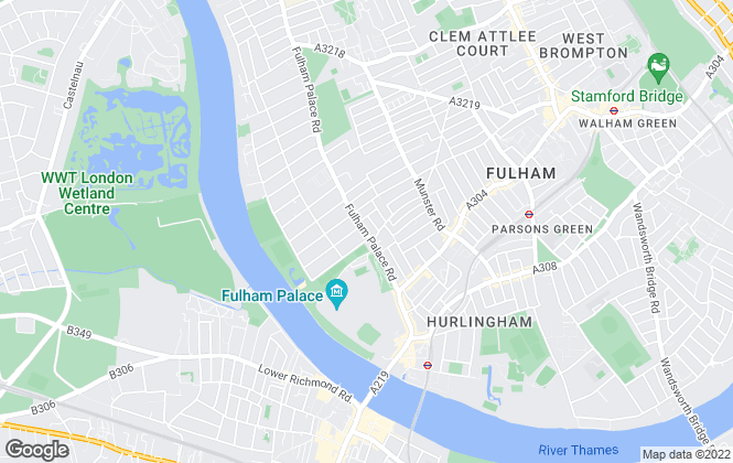 Map for Carter Jonas, Fulham
