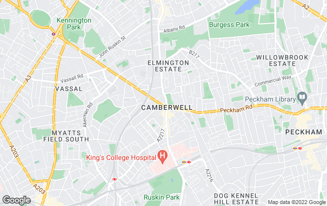 Map for Beresford Residential, Camberwell - Lettings