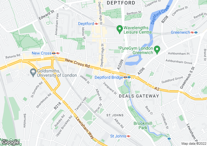 Map for Deptford Broadway, Deptford, SE8