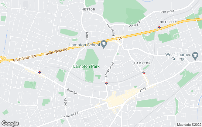 Map for Foxtons, Hounslow
