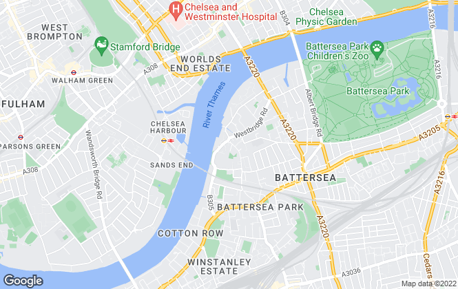 Map for First Union, Battersea