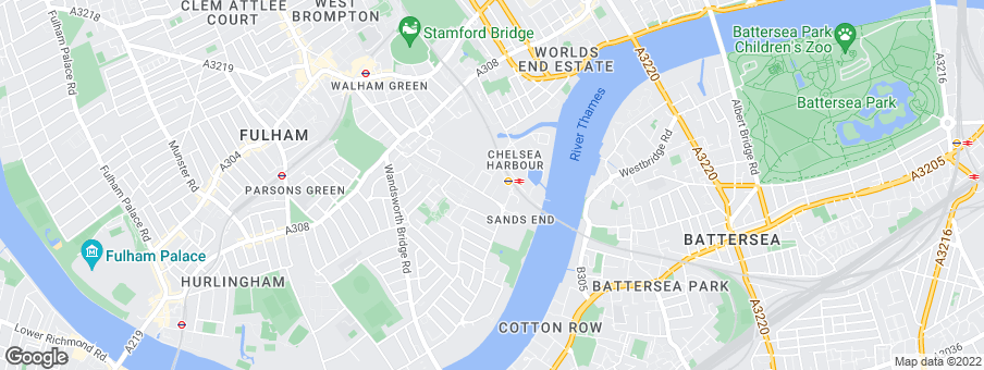 Map for Chelsea Creek development by St. George Central London Ltd