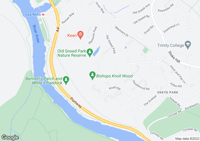 Map for Bramble Drive, Sneyd Park