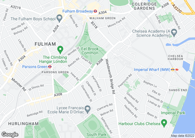 Map for Stokenchurch Street, Fulham, London, SW6 3TR