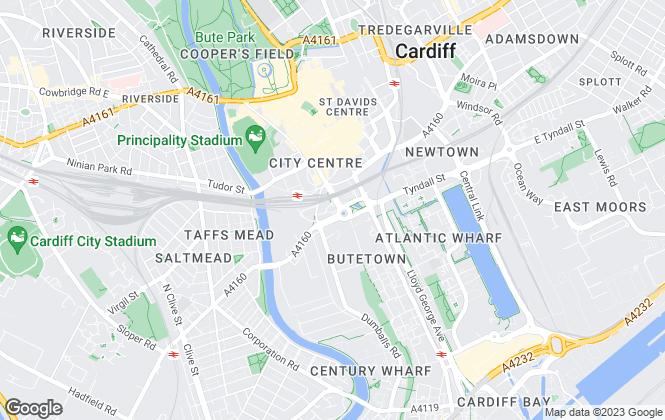 Map for Lambert Smith Hampton, Cardiff