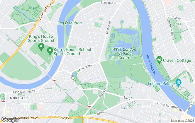 Map for Chestertons Estate Agents , Barnes Village