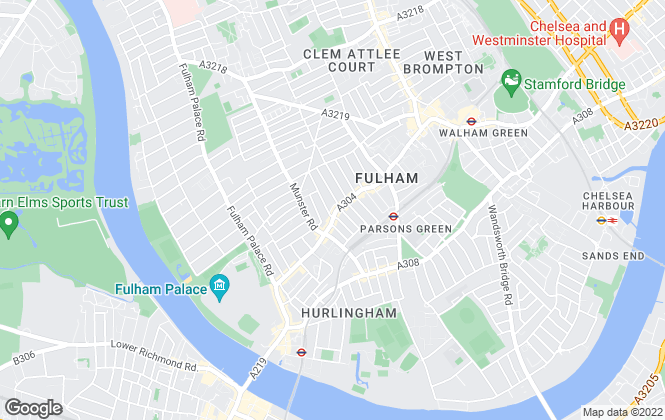 Map for Douglas & Gordon, Fulham