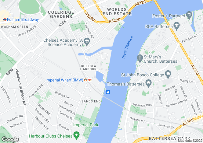 Map for Kings Quay, Chelsea Harbour, London, SW10