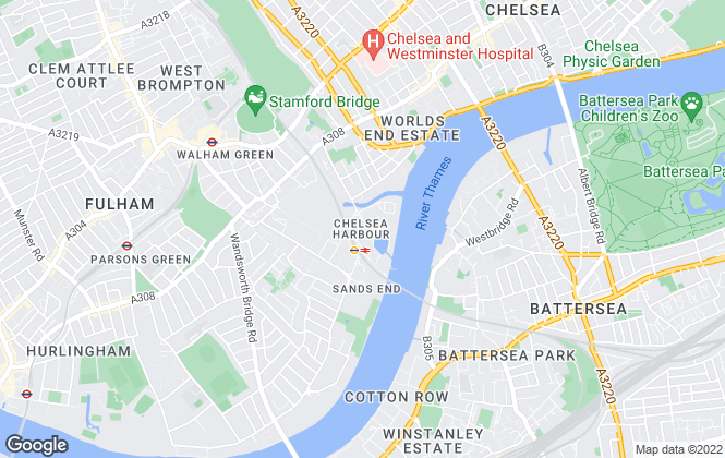 Map for Barchester Healthcare Ltd, Chelsea