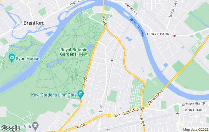 Map for Chestertons Estate Agents , Kew