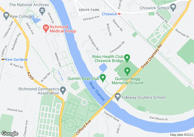 Map for Chiswick Quay Chiswick W4
