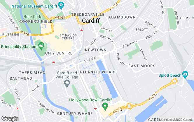 Map for Herbert R Thomas, Cardiff