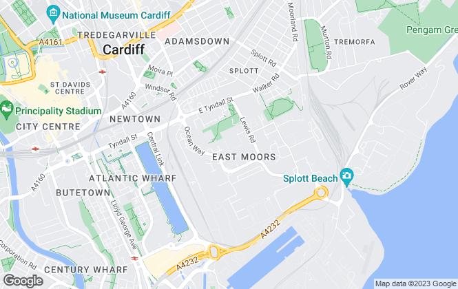 Map for UK Steel Enterprise Ltd, Cardiff Bay Business Centre