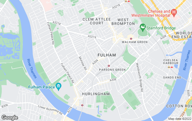 Map for Belvoir, Chelsea and Fulham