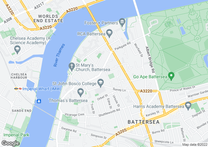 Map for Whitgift House, Battersea, SW11 3TH, United Kingdom