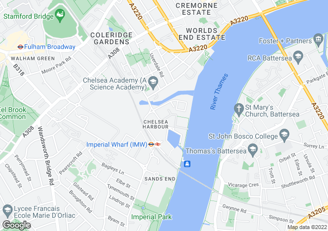Map for Chelsea Harbour, Chelsea