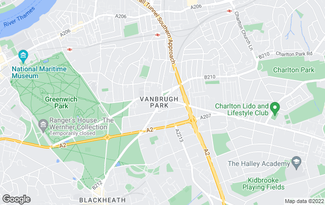 Map for Peter James Estate Agents, Blackheath