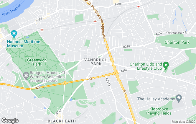 Map for John Payne, Blackheath Standard