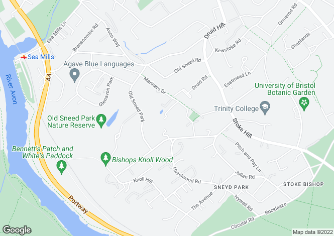 Map for Mariners Drive, Bristol