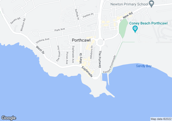 Map for Brogden Building, Porthcawl Sea Front, Porthcawl, Porthcawl, Mid Glamorgan