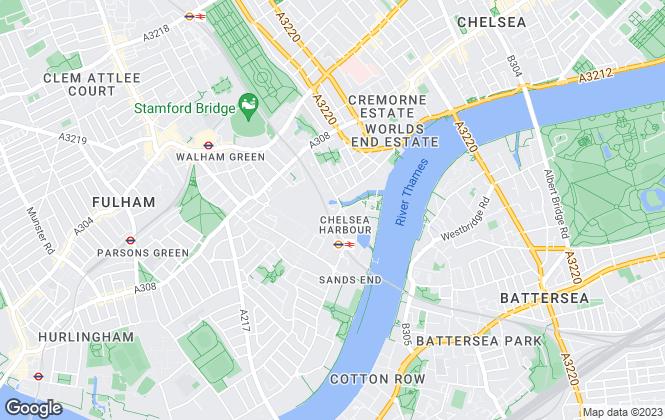 Map for Chelsea Island Developments Ltd