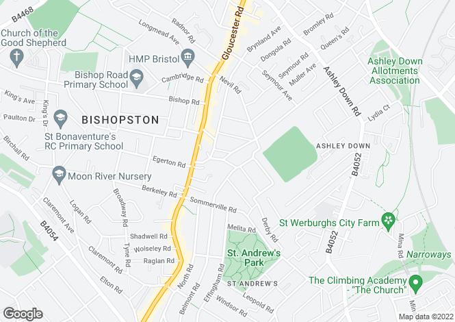 Map for Morley Square, Bishopston, BRISTOL, BS7 9DW