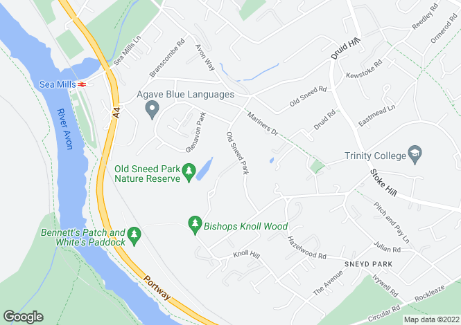 Map for Old Sneed Park, Sneyd Park, Bristol, BS9 1RF