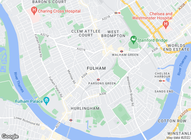 Map for Strutt & Parker, Fulham