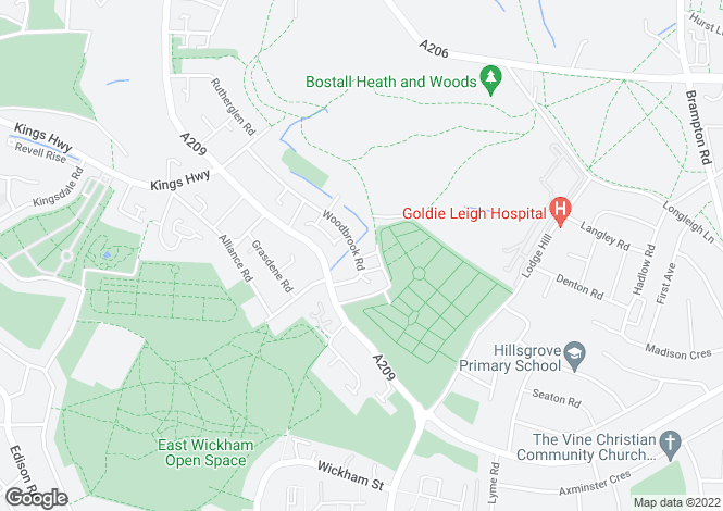Map for Woodbrook Road, Abbey Wood