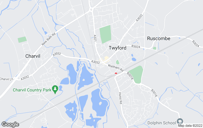Map for Davis Tate, Twyford