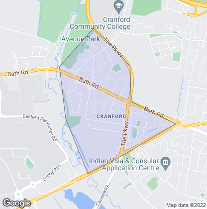 Map of property in Cranford