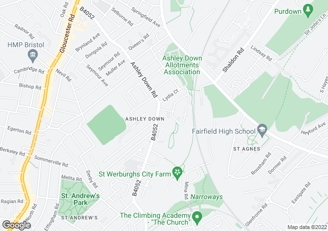 Map for MULLER HOUSE - ASHLEY DOWN