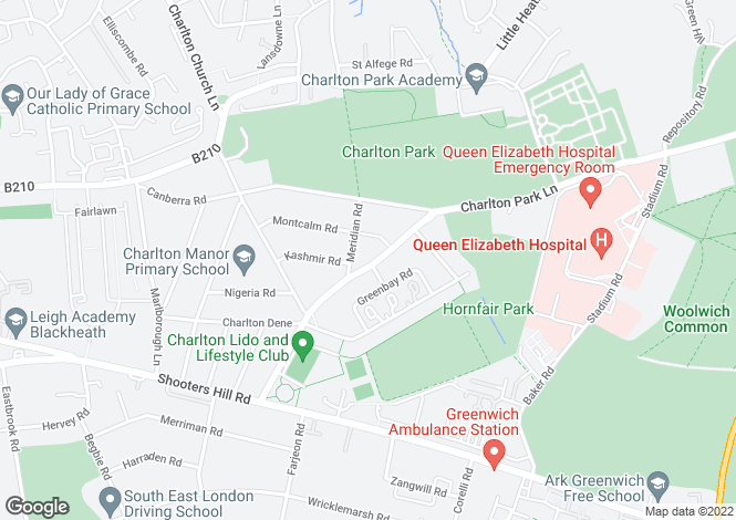 Map for Charlton Park Lane, Charlton