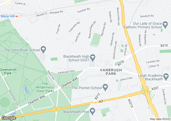 Map for Beaconsfield Road, Blackheath, SE3 7LQ