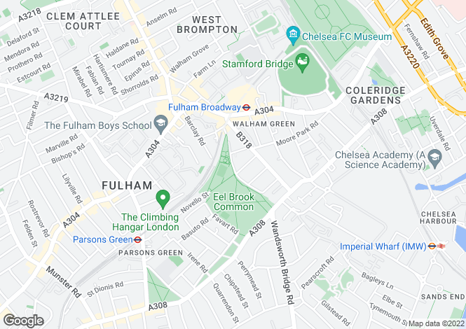 Map for Musgrave Crescent, Fulham
